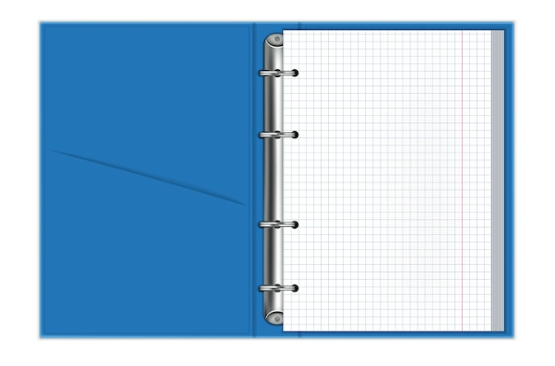 Realistic notebooks with binding rings.