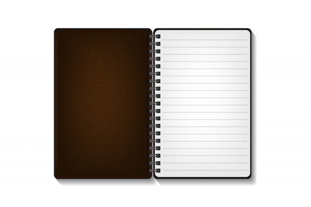 Realistic  notepad on the white background. realistic paper mock up template for covering , branding, corporate identity and advertising.