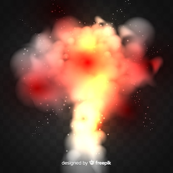 Realistic nuclear bomb smoke effect