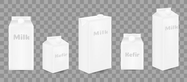 ジュースまたは乳製品用の段ボール容器の現実的。