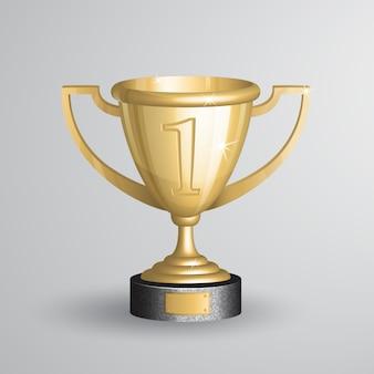 Реалистичный золотой чемпионский трофей, кубок