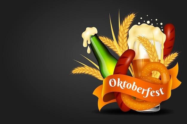 Realistic oktoberfest background