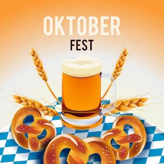 Realistic oktoberfest festival concept