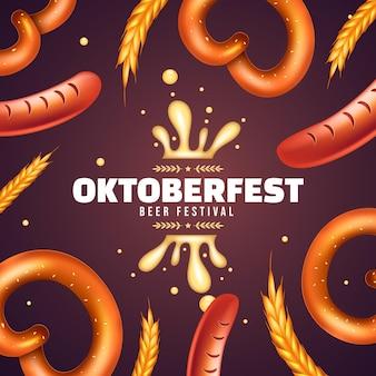 Realistic oktoberfest illustration