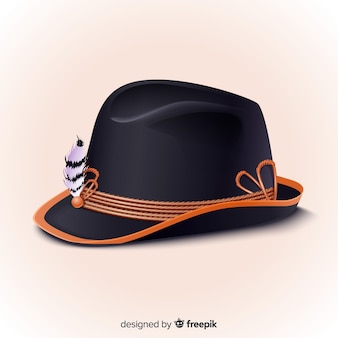 Realistic oktoberfest traditional hat