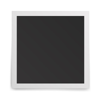 Realistic old photo frame isolated on white background.