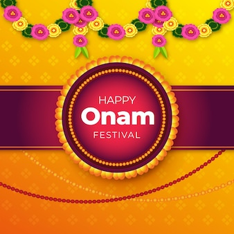 Realistic onam background