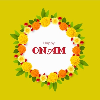 Realistic onam floral decoration