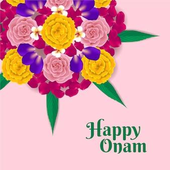 Реалистичное цветочное оформление onam