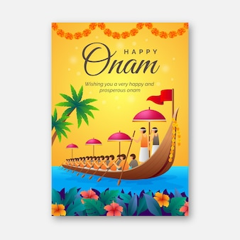 Realistic onam poster template