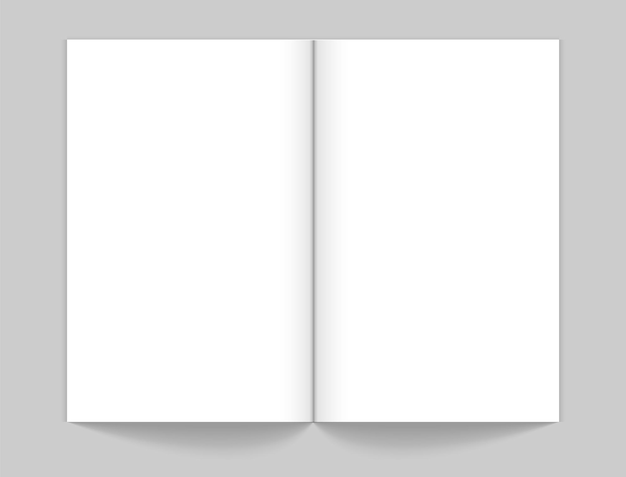 リアルなオープンマガジンのモックアップ。