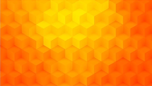 Realistic orange cubes background