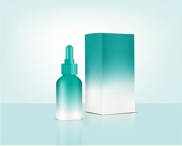 Реалистичная органическая косметика и коробка для ухода за кожей