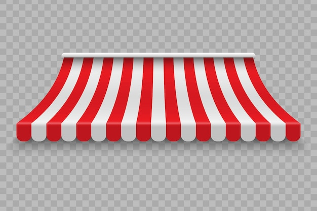 Realistic outdoor awning