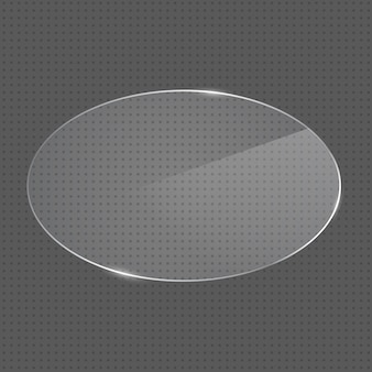 현실적인 타원형 모양의 유리 프레임