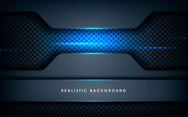 Realistic overlap layers texture with blue lights