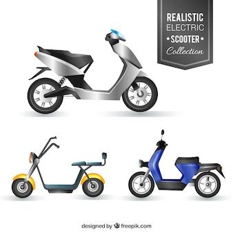 Pacchetto realistico di scooter elettronici