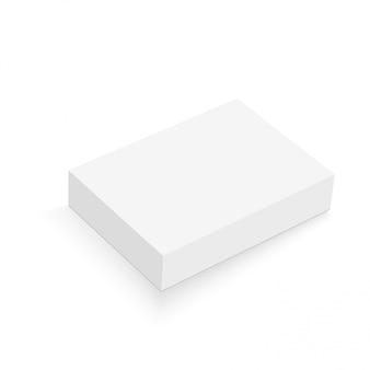 Реалистичная упаковка коробки иллюстрация.