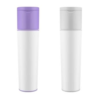 Realistic packaging for cosmetics Premium Vector