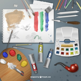 Realistico pittore scrivania
