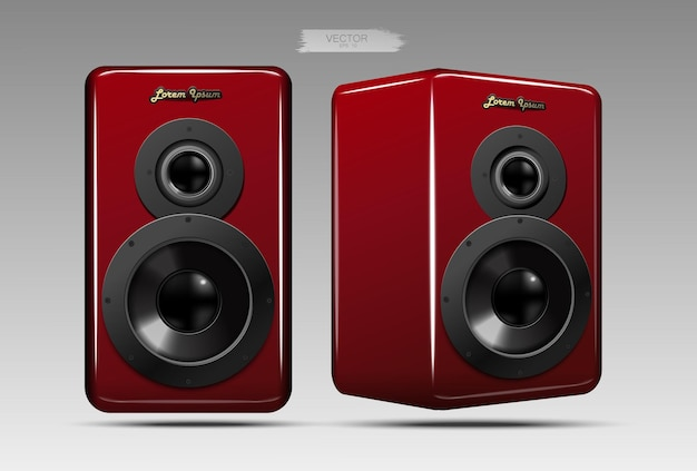 A realistic pair of speakers.