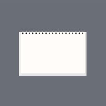 スチールスプリング付きのリアルな紙のメモ帳