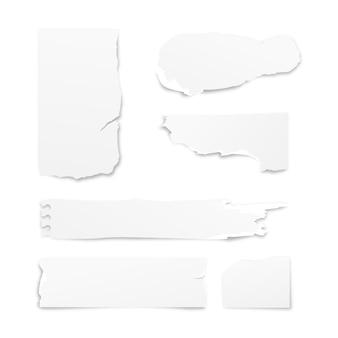 Collezione di adesivi di carta realistici