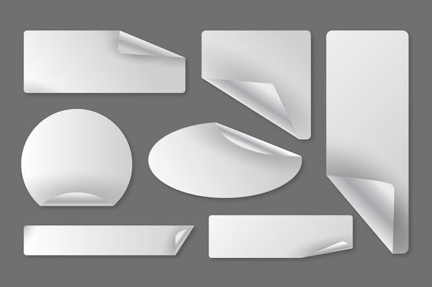 Set di adesivi di carta realistici