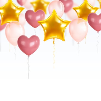 Realistic party balloons set