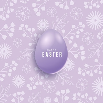 Realistic pastel easter