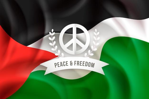 Реалистичный фон знака мира