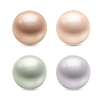 Realistic pearls set