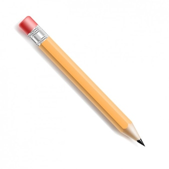 Realistic pencil with rubber