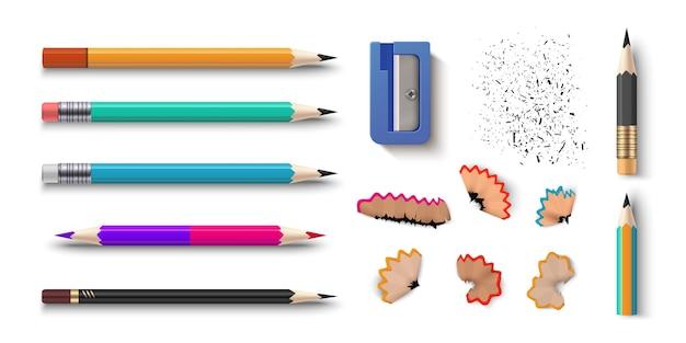 Реалистичные карандаши иллюстрации