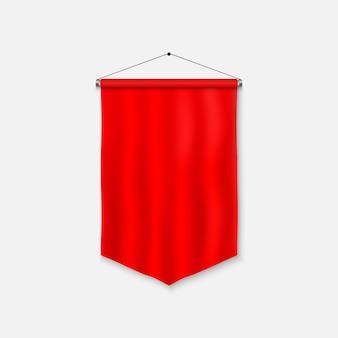 Realistic pennant template. blank 3d flag.