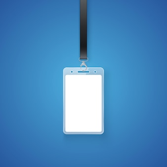 Realistic personal permit. professional identification card id badge holder, access card