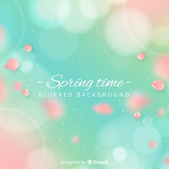 Realistic petals spring background