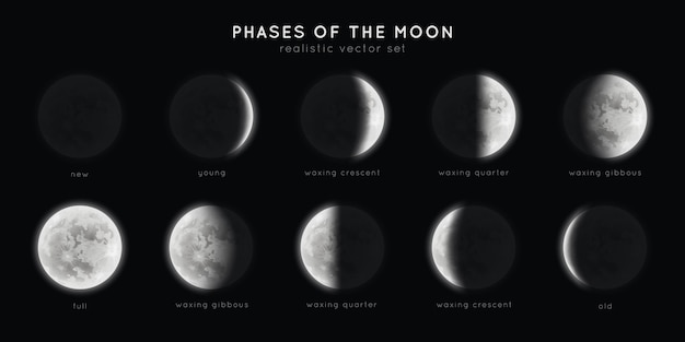 Realistic phases of the moon.