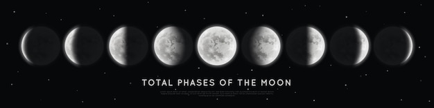 Реалистичные фазы луны.