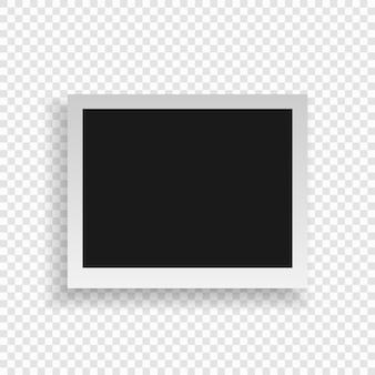 リアルなフォトフレーム。テンプレート写真のデザイン。