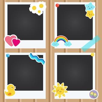 Realistic photo frames for children