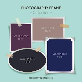 Realistic photo frames set