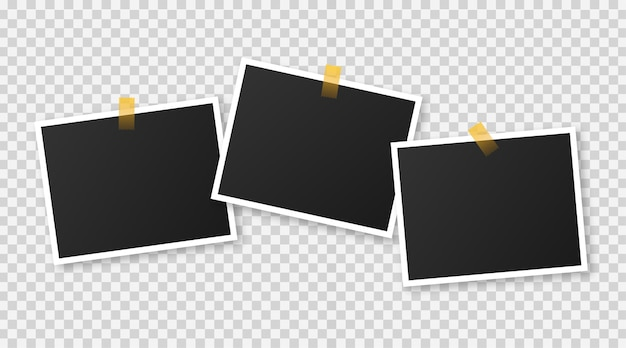 Realistic photograph template with blank space for your image