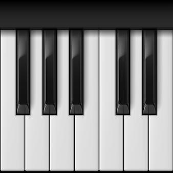 Realistic piano keys