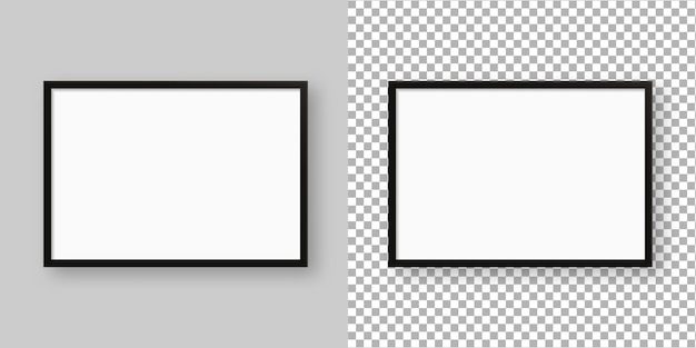 Realistic picture frame. blank picture frame template. isolated. template design. realistic   illustration.