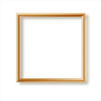 白い背景に分離された現実的な額縁。プレゼンテーションに最適です。図。
