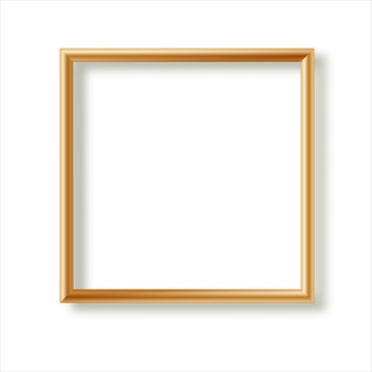 Realistic picture frame isolated on white background. perfect for your presentations.  illustration.