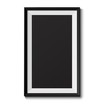 흰색 바탕에 현실적인 그림 프레임입니다. 프레젠테이션에 적합합니다. 삽화