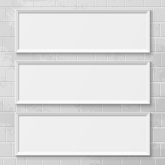 Realistic picture frames. perfect for your presentations.  illustration