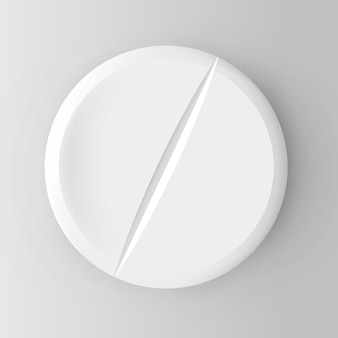 Realistic pill. illustration  on background.